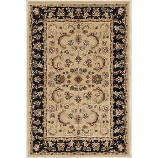 Primeval Beige/ Black Oriental Rug (2'3 x 3'9)
