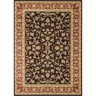 Primeval Brown Oriental Rug (7'7 x 10'6)