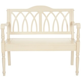 Safavieh Carlisle Distressed White Bench
