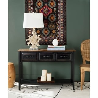 Link to Safavieh Hartlepool Black/ Walnut Console Table Similar Items in Living Room Furniture