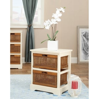 Safavieh York 2-Drawer White Storage Cabinet