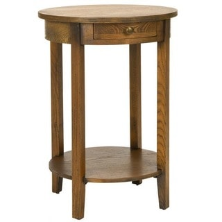 Oak Finish Side Table 15656610 Overstock Com Shopping