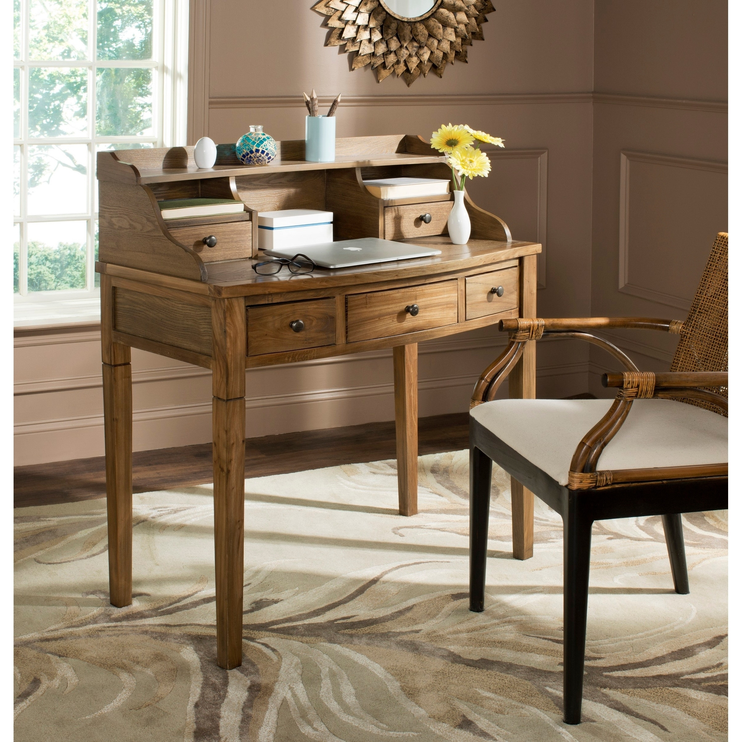 Safavieh Tiverton Oak Writing Desk, Brown, Size Small