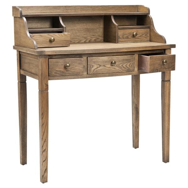 Safavieh Tiverton Oak Writing Desk   Free Shipping Today   Overstock.com    13340708