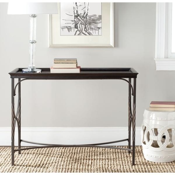 Safavieh Hastings Antique Pewter/ Dark Walnut Console Table