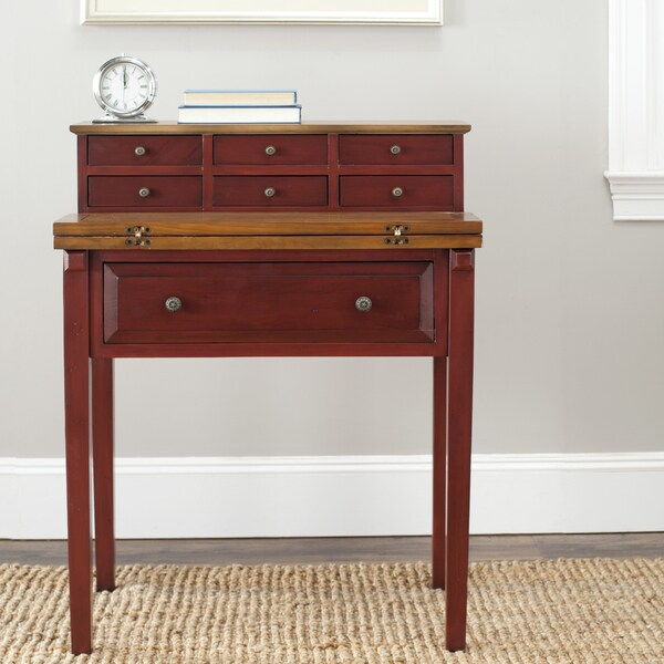 Safavieh Windsford Cherry Storage Fold-down Desk