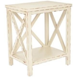 Safavieh Bridgend Distressed Ivory End Table