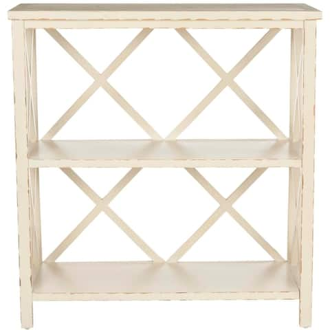 "Safavieh Weymouth Distressed Ivory Bookcase - 33.5"" x 13.5"" x 35.6"""
