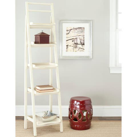 "Safavieh Chester Distressed Ivory Leaning Etagere - 16.5"" x 15"" x 71.3"""