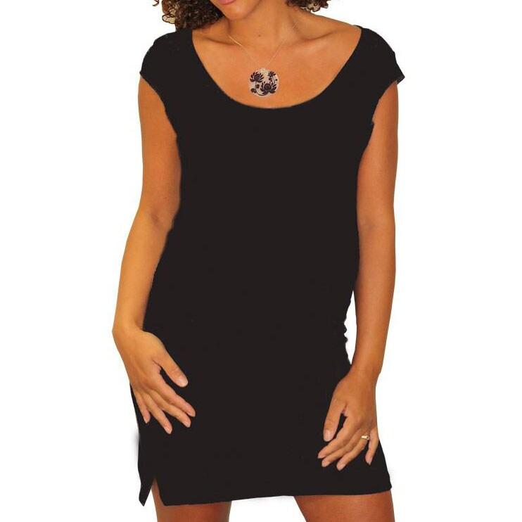 [Bump]-tee Black Maternity Dress