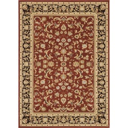 Primeval Red Oriental Area Rug (7'7 x 10'6)