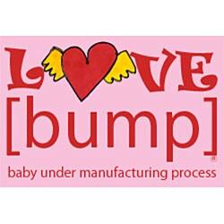Love [Bump] Maternity V-neck T-shirt