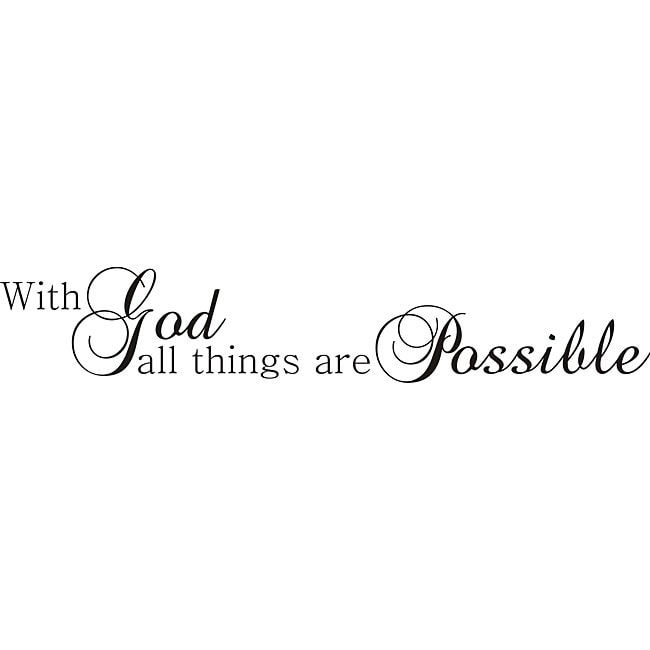 Shop Design On Style With God All Things Are Possible Vinyl Art