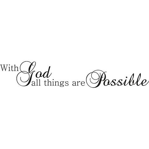 Design on Style 'With God All Things are Possible' Vinyl Art Quote