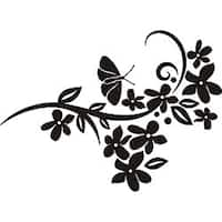 Design on Style Butterfly Floral Design Vinyl Art Quote