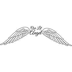 Design on Style 'Our Lil' Angel with Wings' Vinyl Art Quote
