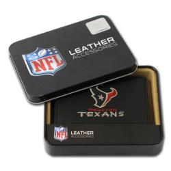 Houston Texans Men's Black Leather Tri-fold Wallet