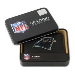 Carolina Panthers Men's Black Leather Tri-fold Wallet