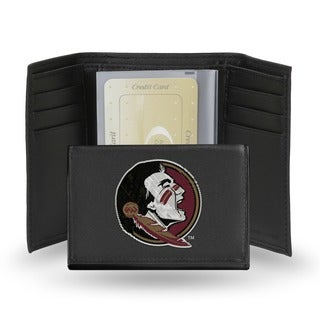 Florida State Seminoles Men's Black Leather Tri-fold Wallet