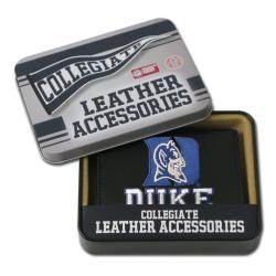 Duke Blue Devils Men's Black Leather Tri-fold Wallet