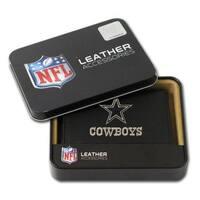 Dallas Cowboys Men's Black Leather Tri-fold Wallet