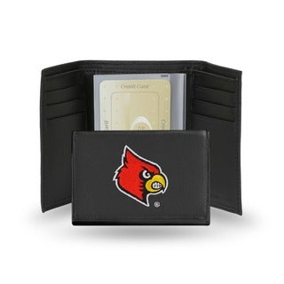 Louisville Cardinals Men's Black Leather Tri-fold Wallet