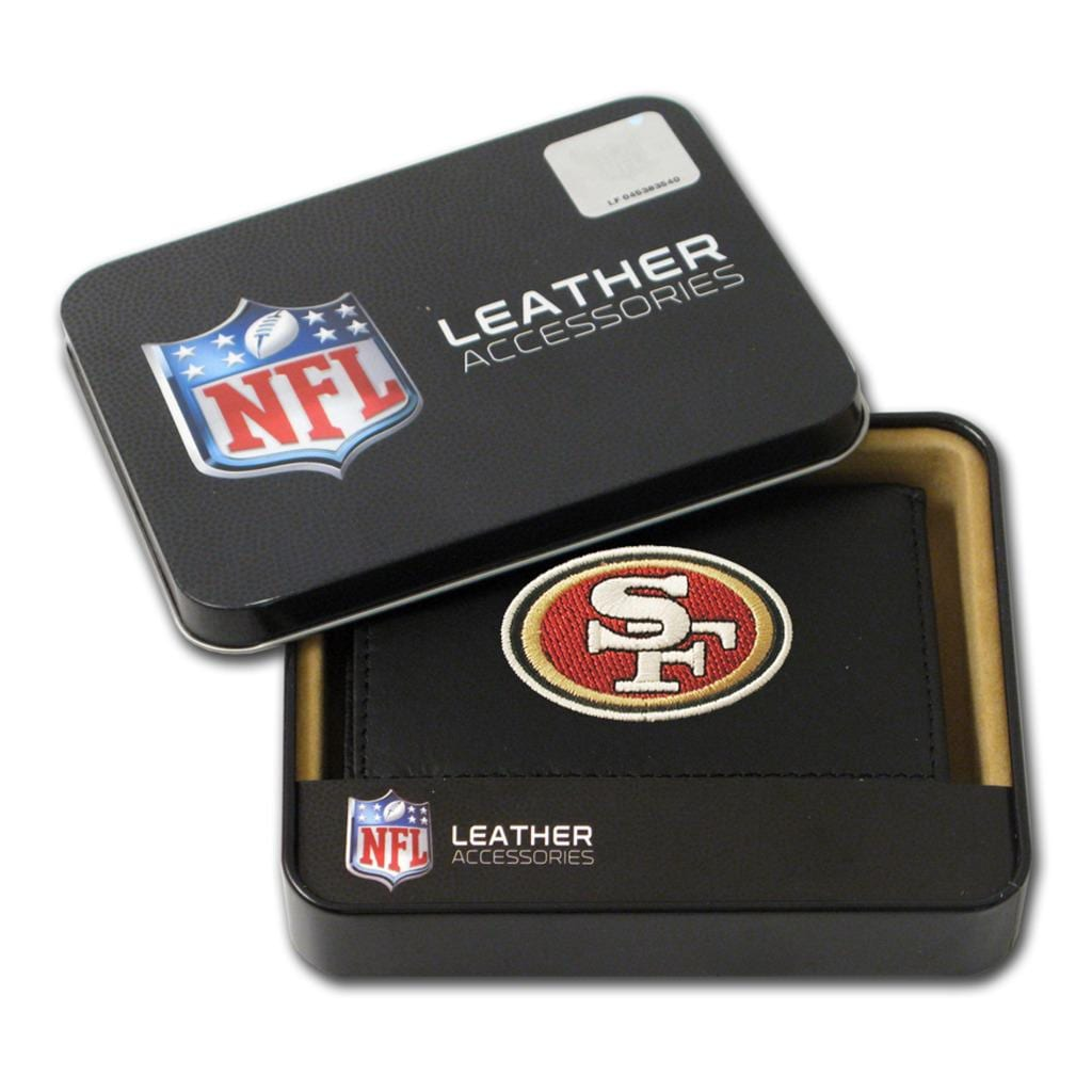 San Francisco 49ers Men's Black Leather Tri-fold Wallet