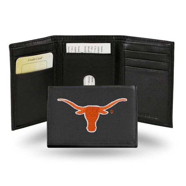 Texas Longhorns Men's Black Leather Tri-fold Wallet