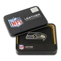 Seattle Seahawks Men's Black Leather Tri-fold Wallet