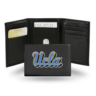 UCLA Bruins Men's Black Leather Tri-fold Wallet