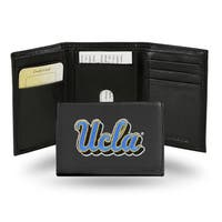 UCLA Bruins Men's Black Leather Tri-fold Wallet