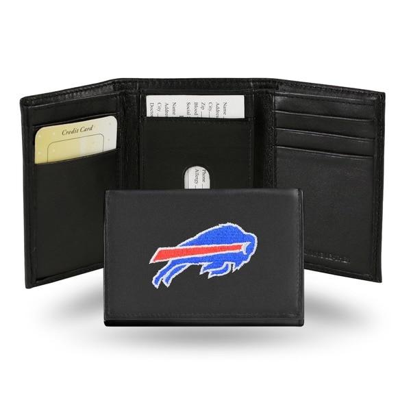 Buffalo Bills Men's Black Leather Tri-fold Wallet