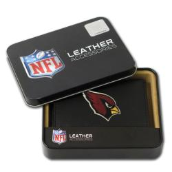 Arizona Cardinals Men's Black Leather Tri-fold Wallet