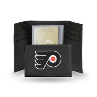 Philadelphia Flyers Men's Black Leather Tri-fold Wallet