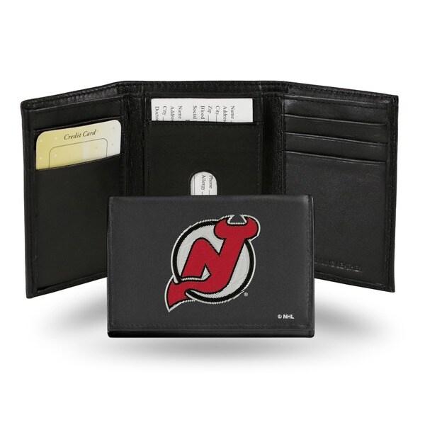 New Jersey Devils Men's Black Leather Tri-fold Wallet
