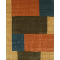 Hand-knotted Semi-worsted Multi New Zealand Wool Rug (6' x 9') - Thumbnail 0