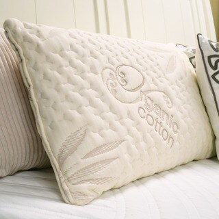 Ultra Plush Memory Foam Ventilated Pillow and Cotton Cover Set