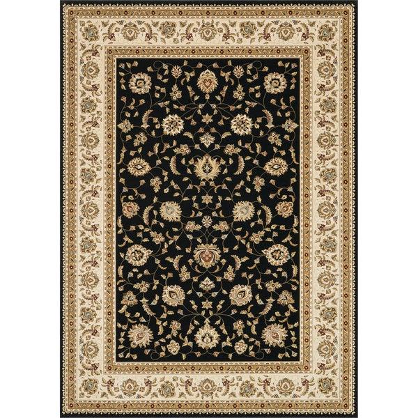 Primeval Black/ Ivory Oriental Rug - 7'7 x 10'6