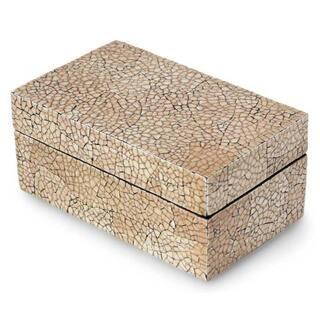 Eggshell Mosaic 'Radiant Earth' Decorative Box , Handmade in Thailand|https://ak1.ostkcdn.com/images/products/5572094/Eggshell-Mosaic-Radiant-Earth-Decorative-Box-Thailand-P13341484.jpg?impolicy=medium