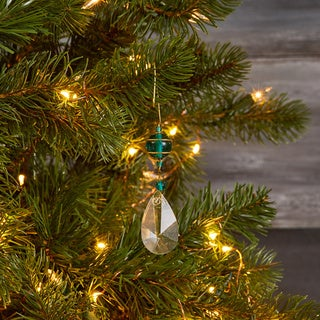 Green Glass Crystal Hanging Ornament (India)
