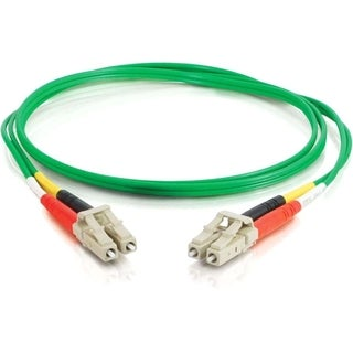 C2G 2m LC-LC 62.5/125 OM1 Duplex Multimode PVC Fiber Optic Cable - Gr