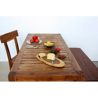 Handmade Biased Wood 8x16-inch Serving Board Set (Thailand)