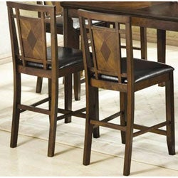 Walnut Inlay Counter Stools (Set of 2)