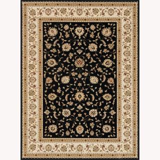 Primeval Black/ Ivory Oriental Rug (9'2 x 12'7)