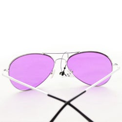 Women's 30011c Silvertone Aviator Sunglasses