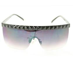 Women's F1900 Black Rimless Sunglasses - Thumbnail 1