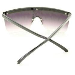 Women's F1900 Black Rimless Sunglasses - Thumbnail 2