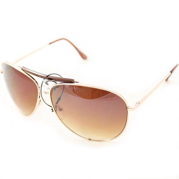 Unisex F734 Gold Aviator Sunglasses