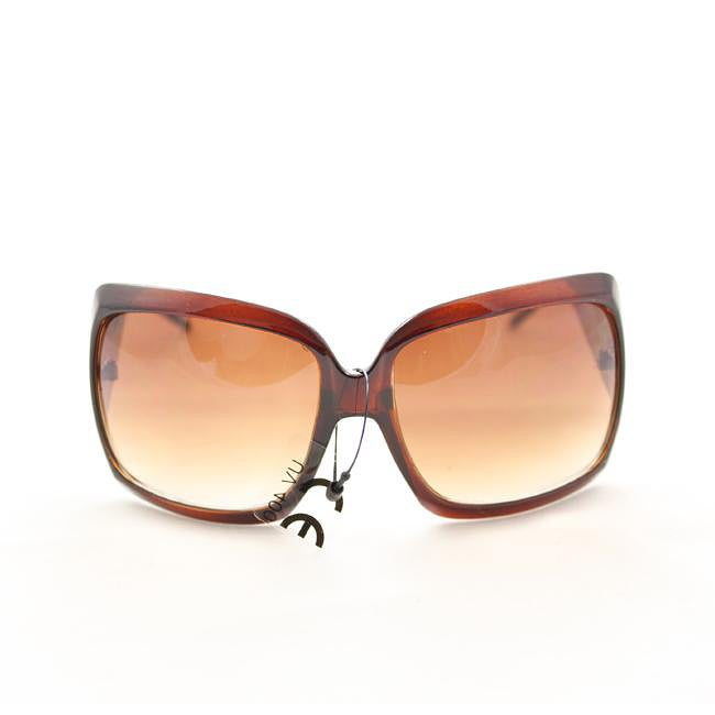 Women's 26557 Brown Oversized Sunglasses