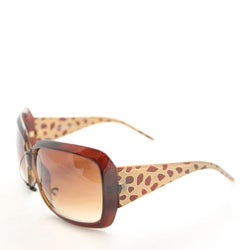 Women's 26557 Brown Oversized Sunglasses - Thumbnail 1
